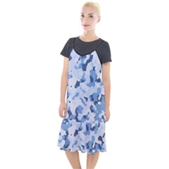 Standard Light Blue Camouflage Army Military Camis Fishtail Dress by snek