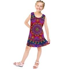 Kaleidoscope Pattern Ornament Kids  Tunic Dress