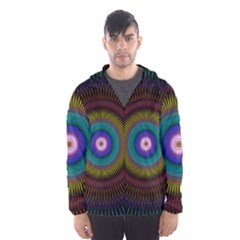 Artskop Kaleidoscope Pattern Hooded Windbreaker (men) by Pakrebo