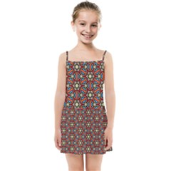 Pattern Stained Glass Church Kids  Summer Sun Dress