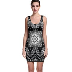 Mandala Calming Coloring Page Bodycon Dress by Pakrebo
