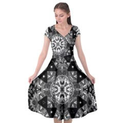 Mandala Calming Coloring Page Cap Sleeve Wrap Front Dress by Pakrebo