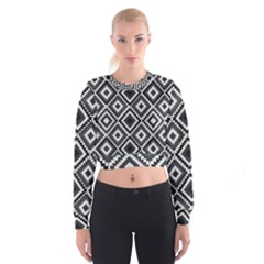 Native American Pattern Cropped Sweatshirt by Valentinaart