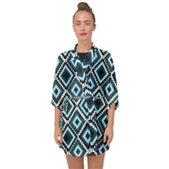 Native American Pattern Half Sleeve Chiffon Kimono by Valentinaart