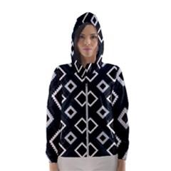 Native American Pattern Hooded Windbreaker (women) by Valentinaart