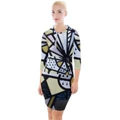 Hildesheim Germany Lower Saxony Quarter Sleeve Hood Bodycon Dress by Pakrebo