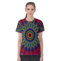 Kaleidoscope Mandala Pattern Women s Cotton Tee