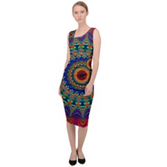 Kaleidoscope Mandala Pattern Sleeveless Pencil Dress by Pakrebo