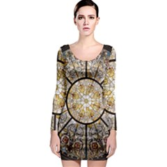 Stained Glass Window Glass Ceiling Long Sleeve Bodycon Dress by Pakrebo