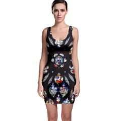 Stained Glass Sainte Chapelle Gothic Bodycon Dress by Pakrebo
