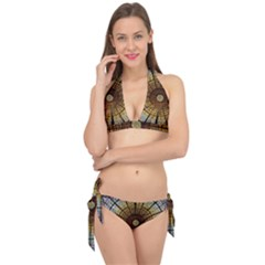 Barcelona Glass Window Stained Glass Tie It Up Bikini Set