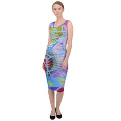 Wallpaper Stained Glass Sleeveless Pencil Dress by Pakrebo