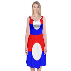 United States Army 9th Infantry Division Shoulder Sleeve Insignia Midi Sleeveless Dress