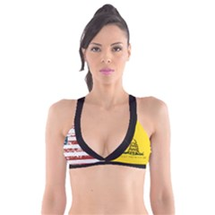 Gadsden Flag Don t Tread On Me Plunge Bikini Top by snek