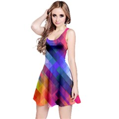 Abstract Background Colorful Reversible Sleeveless Dress by Alisyart
