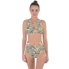 Abstract Art Botanical Bandaged Up Bikini Set