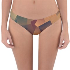 Background Triangle Reversible Hipster Bikini Bottoms