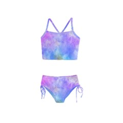 Background Abstract Purple Watercolor Girls  Tankini Swimsuit