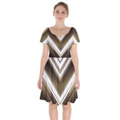 Chevron Triangle Short Sleeve Bardot Dress by Alisyart