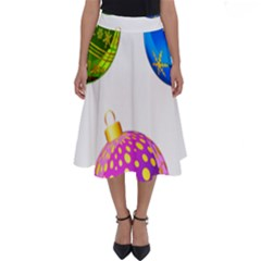 Christmas Ornaments Ball Perfect Length Midi Skirt