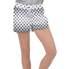 Concentric Halftone Wallpaper Women s Velour Lounge Shorts by Alisyart