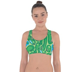 Golf Course Par Golf Course Green Cross String Back Sports Bra by Pakrebo