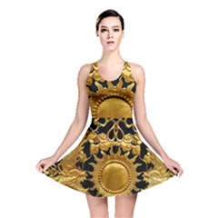 Golden Sun Gold Decoration Wall Reversible Skater Dress