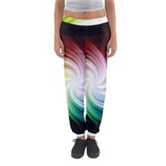 Rainbow Swirl Twirl Women s Jogger Sweatpants by Pakrebo