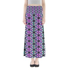 Geometric Patterns Triangle Full Length Maxi Skirt