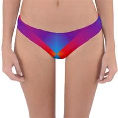 Geometric Blue Violet Red Gradient Reversible Hipster Bikini Bottoms