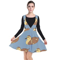Farm Agriculture Pet Furry Bird Plunge Pinafore Dress by Alisyart