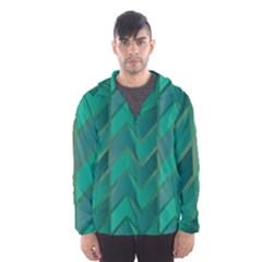 Geometric Background Hooded Windbreaker (men) by Alisyart