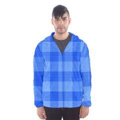 Fabric Grid Textile Deco Hooded Windbreaker (men) by Alisyart