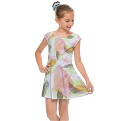 Flower Floral Kids  Cap Sleeve Dress