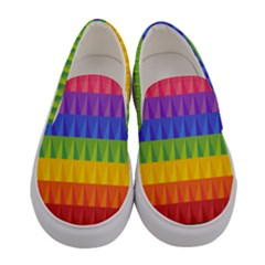 Abstract Pattern Background Women s Canvas Slip Ons