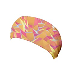 Background Mountains Low Poly Yoga Headband