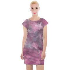 Background Abstract Cap Sleeve Bodycon Dress