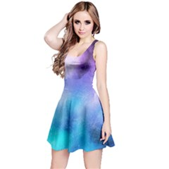 Background Abstract Watercolor Reversible Sleeveless Dress