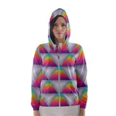 Colorful Triangle Hooded Windbreaker (women)