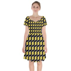 Between Circles Short Sleeve Bardot Dress by TimelessFashion