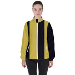 Black - Ceylon Yellow High Neck Windbreaker (women) by TimelessFashion