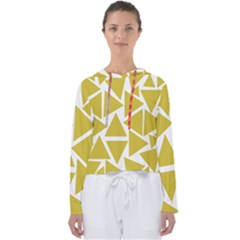 Ceylon Yellow Triangles Women s Slouchy Sweat by TimelessFashion