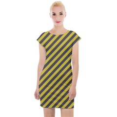 Diagonal Stripes    Cap Sleeve Bodycon Dress by TimelessFashion