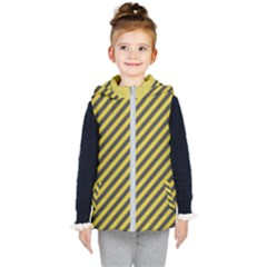 Diagonal Stripes    Kids  Hooded Puffer Vest by TimelessFashion