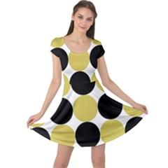 Dots Effect  Cap Sleeve Dress