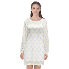 Heart Lines  Long Sleeve Chiffon Shift Dress  by TimelessFashion