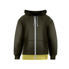 Hexagon Effect  Kids  Zipper Hoodie