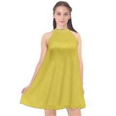 Just Squares  Halter Neckline Chiffon Dress