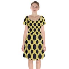 Polka Dots Large  Short Sleeve Bardot Dress