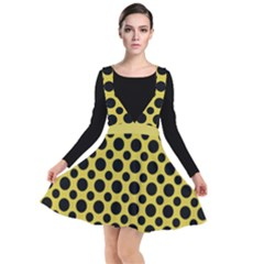 Polka Dots Medium  Plunge Pinafore Dress by TimelessFashion